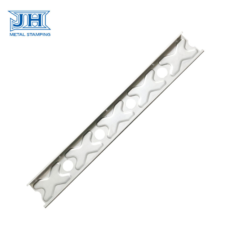 Galvanized Steel Construction Hardware Stamping Bracket Frame Produced By Drawings